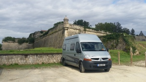 Boris at the citadel at Blaye.